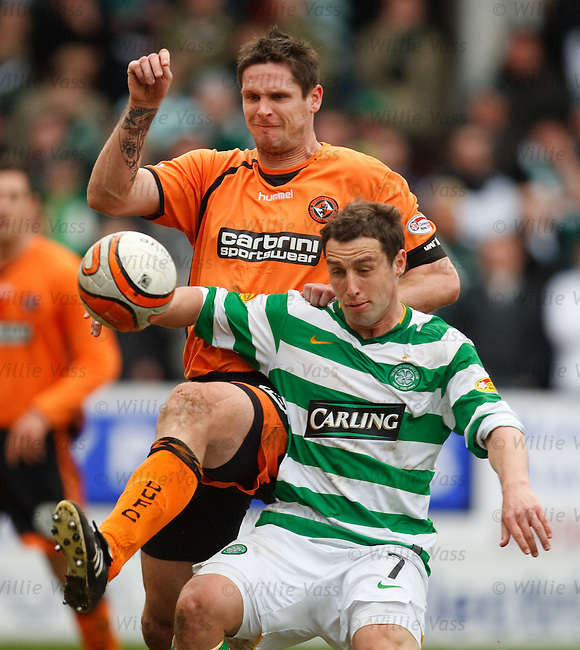 Lee Wilkie gives no peace to Scott McDonald