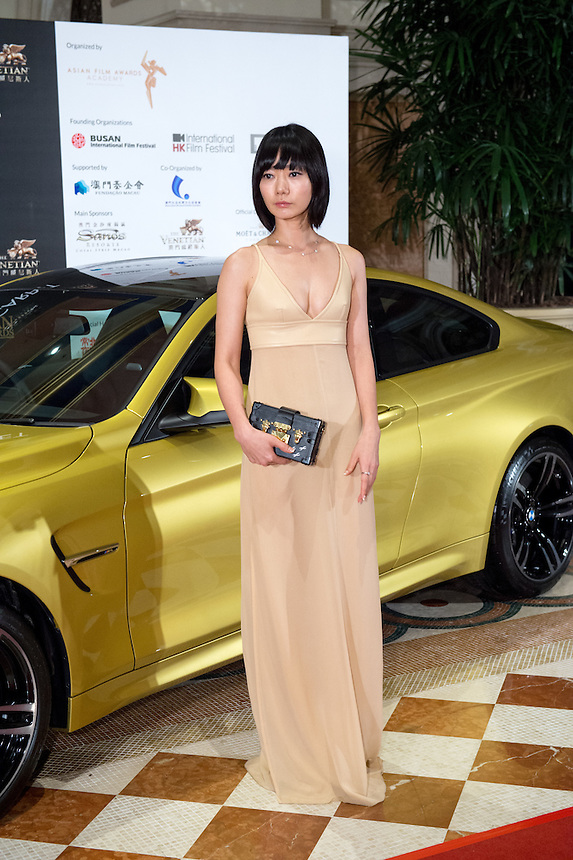 Best Actress winner BAE Doo-n for her film A girl at my door, arrives at the 9th Asian Film awards at the Venetian Macau.25.03.15. 25th March 2015.<br /> Pic Jayne Russell +852 97578607.
