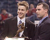 Eric Leroux of Princeton University was honored with the Hockey Humanitarian Award on the ice at the Bradley Center in Milwaukee, Wisconsin on April 7, 2006.
