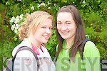 SMILE: Eloise Mangan and Fiona Murphy smile for the camera on Wednesday morning before heading in to sit their first exam at the Intermediate School, Killorglin.   Copyright Kerry's Eye 2008