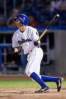 August 19,2010 Radames Nazario (16) in action during the MiLB game between the Midland RockHounds and the Tulsa Drillers at OneOk Field in Tulsa Oklahoma.