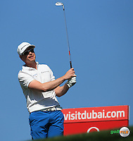 Roope Kakko (FIN) during the Final Round of the 2016 Omega Dubai Desert Classic, played on the Emirates Golf Club, Dubai, United Arab Emirates.  07/02/2016. Picture: Golffile | David Lloyd<br /> <br /> All photos usage must carry mandatory copyright credit (&copy; Golffile | David Lloyd)