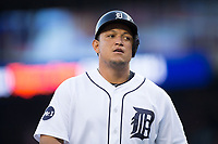 Miguel Cabrera (24) of the Detroit Tigers during the game against the Chicago White Sox at Comerica Park on June 2, 2017 in Detroit, Michigan.  The Tigers defeated the White Sox 15-5.  (Brian Westerholt/Four Seam Images)