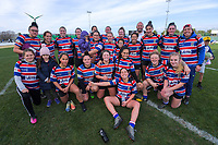 The FOBO team after the 2019 Manawatu premier women's club rugby Prue Christie Cup final match between Feilding Old Boys Oroua and Kia Toa at CET Arena in Palmerston North, New Zealand on Saturday, 13 July 2019. Photo: Dave Lintott / lintottphoto.co.nz