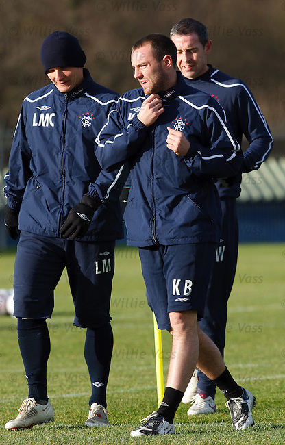 Kris Boyd feeling hot under the collar as he trains with Lee McCulloch