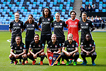 Lyon Feminines team group during the Women's Champions League, Semi Final 1st leg match at the Academy Stadium, Manchester. Picture date 22nd April 2018. Picture credit should read: Simon Bellis/Sportimage