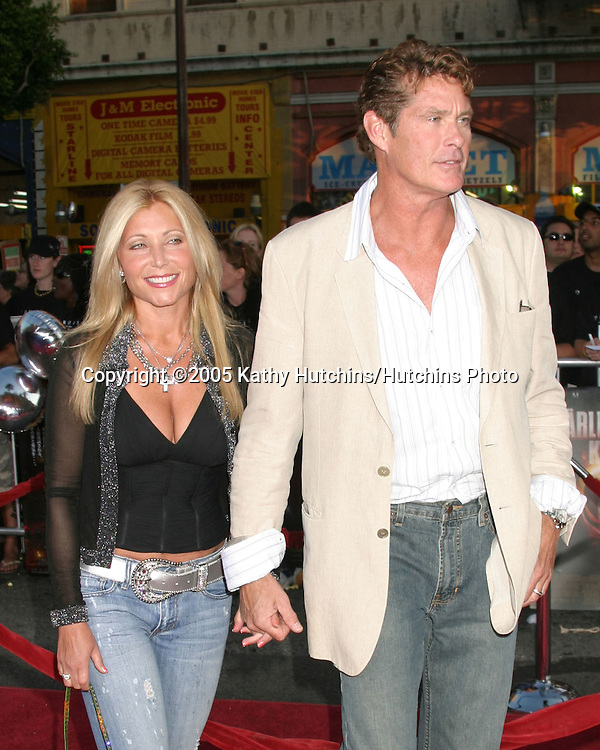 Pam and David Hasselhoff.War if the Worlds Screening.Grauman's Chinese Theater.Los Angeles, CA.June 27, 2005.©2005 Kathy Hutchins / Hutchins Photo