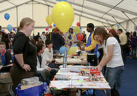 Freshers' Fair introducing new students to university Clubs, University of Surrey.