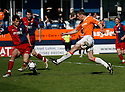 Tom Craddock of Luton shoots at goal during the Blue Square Premier play-off semi-final 2nd leg  match between Luton Town and York City at Kenilworth Road, Luton on Monday 3rd May, 2010..© Kevin Coleman 2010 ..