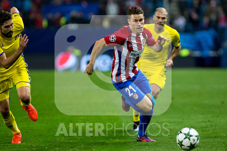 Atletico de Madrid's Kevin Gameiro  during the match of UEFA Champions League between Atletico de Madrid and FC Rostov, at Vicente Calderon Stadium,  Madrid, Spain. November 01, 2016. (ALTERPHOTOS/Rodrigo Jimenez)