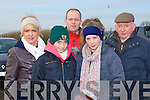DAY AT THE RACES: Enjoying a day at the races at the North Kerry Harries point to point races at the Ballybeggan racecourse, Tralee on Sunday l-r: Valarie, Grace, Pat, Elaine and Dermot Culloty.
