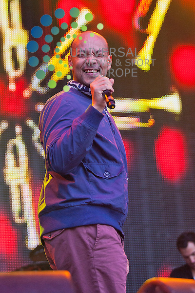 Roland Gift (Fine Young Canibals) perform at the Scottish Rewind Festival at Scone Palace, Perth on Sunday, July 22, 2012.  ..Picture: Malcolm McCurrach - Universal News and Sport (Europe) - 22/07/2012