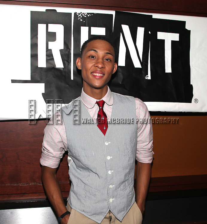 MJ Rodriguez.attending the Off-Broadway Opening Night After Party for 'RENT' at Glass House Tavern in New York City....