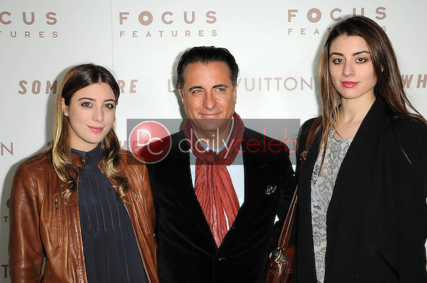 Andy Garcia and Daughters Dominik Garcia-Lorido and Alessandra Garcia-Lorido<br />
