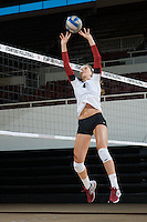 STANFORD, CA - AUGUST 13, 2013 - Kelsey Humphreys of the Stanford Women's Volleyball team.