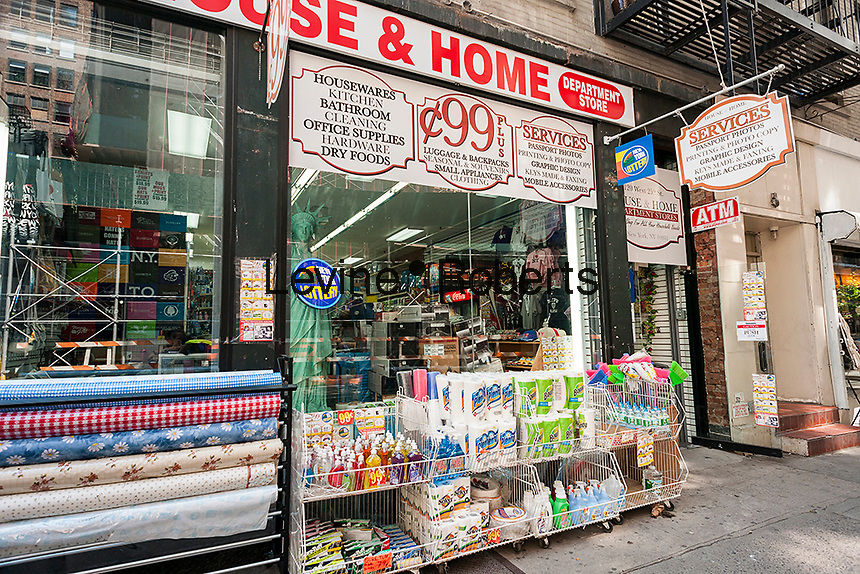 A generic 99 cent store in New York on Monday, June 20, 2016.  (© Richard B. Levine)