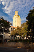 Looking at the University Of Texas Tower from the Drag, Guadalupe Street