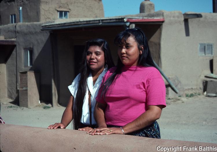 female guides at Taos Pueblo