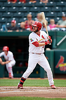Springfield Cardinals first baseman Casey Grayson (38) at bat during a game against the San Antonio Missions on June 4, 2017 at Hammons Field in Springfield, Missouri.  San Antonio defeated Springfield 6-1.  (Mike Janes/Four Seam Images)