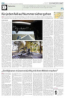 die tageszeitung taz (German daily) on the German army in Afghanistan, 2013.10.21.<br /> Photo: Timo Vogt