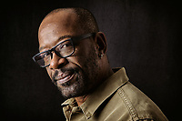Lennie James, photographed at the Guardian Photo studios in London for the Observer New Review.  James has a new Drama coming out called &quot;Save Me&quot;, which he wrote and starred in. Lennie James  is an English actor, screenwriter, and playwright. He is best known for playing Morgan Jones on The Walking Dead and Fear the Walking Dead, and has appeared in many films, including Snatch (2000), and Blade Runner 2049 (2017).<br /> <br /> Among James' more notable roles in television is Mr. Glen Boyle on the current medical drama Critical on Sky 1. On American television, he portrayed the mysterious Robert Hawkins in the CBS series Jericho and Detective Joe Geddes in the AMC television series Low Winter Sun.<br /> <br /> James has received praise for The Walking Dead, making guest appearances in the first, third and fifth seasons before being upgraded to main cast for the sixth season. James will also appear in the fourth season of Fear the Walking Dead.