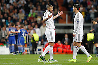 Real Madrid´s Portuguese forward Cristiano Ronaldo and French Benzema