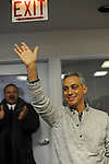 Rahm Emanuel rallies his supporters at the opening of his first field office for his campaign for Chicago mayor in the South Side neighborhood of Hyde Park in Chicago, Illinois on December 11, 2010.