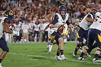 LOS ANGELES, CA - October 27, 2016: Cal Bears Football team vs. the USC Trojans at Los Angeles Memorial Coliseum. Final score, Cal Bears 24, USC Trojans 45.