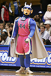 15 February 2012: Duke Blue Devil mascot wearing a pink jersey as part of the Hoops for Hope cancer research benefit. The Duke University Blue Devils defeated the Virginia Tech Hokies 67-45 at Cameron Indoor Stadium in Durham, North Carolina in an NCAA Division I Women's basketball game.