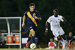 29 August 2014: Cal's Connor Hallisey (22) and North Carolina's Boyd Okwuonu (4). The University of North Carolina Tar Heels hosted the University of California Bears at Fetzer Field in Chapel Hill, NC in a 2014 NCAA Division I Men's Soccer match. North Carolina won the game 3-1.