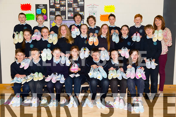 6th class Junior Entrepreneur Program cool dip-dye shoes from O' Brennan National School Tralee on Friday