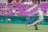 Orlando, FL - Saturday June 24, 2017: Jane Campbell during a regular season National Women's Soccer League (NWSL) match between the Orlando Pride and the Houston Dash at Orlando City Stadium.
