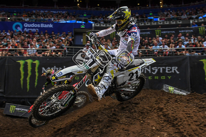 SX 1 / Jason Anderson (USA)<br /> 2018 SX Open - Sydney <br /> Australian Supercross Championships<br /> Qudos Bank Area / Sydney Aus<br /> Saturday Nov 10th 2018<br /> © Sport the library/ Jeff Crow / AME