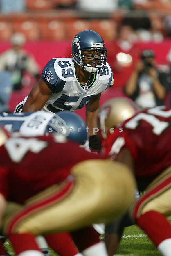 JULIAN PETERSON, of the Seattle Seahawks ,during their game against  the  San Francisco 49ers on Novmeber 19, 2006 in San Francisco, CA...49ers win 20-14..Rob Holt / SportPics