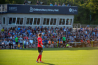 Kansas City, MO - Sunday May 07, 2017: FC Kansas City fans during a regular season National Women's Soccer League (NWSL) match between FC Kansas City and the Orlando Pride at Children's Mercy Victory Field.