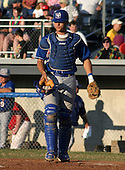 July 19, 2003:  Catcher Paul Richmond (36) of the Auburn Doubledays, Class-A affiliate of the Toronto Blue Jays, during a game at Dwyer Stadium in Batavia, NY.  Photo by:  Mike Janes/Four Seam Images