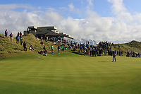 Ronan Mullarney (Galway) on the 18th green during the Final of the AIG Irish Amateur Close Championship 2019 in Ballybunion Golf Club, Ballybunion, Co. Kerry on Wednesday 7th August 2019.<br /> <br /> Picture:  Thos Caffrey / www.golffile.ie<br /> <br /> All photos usage must carry mandatory copyright credit (© Golffile | Thos Caffrey)