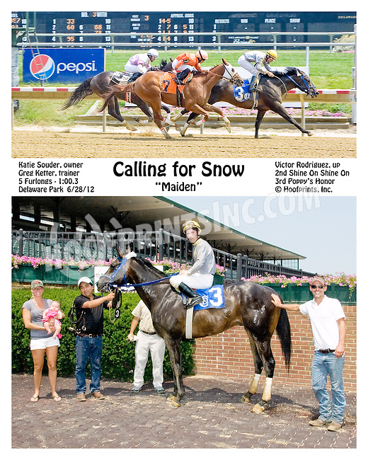 Calling for Snow winning Delaware Park on 6/28/12