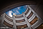 Urban Abstract series: Inner curves of exit ramp of parking garage.