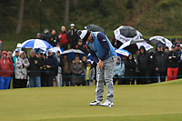 Lee Westwood (ENG) on the 3rd green during Round 1 of the Betfred British Masters 2019 at Hillside Golf Club, Southport, Lancashire, England. 09/05/19<br /> <br /> Picture: Thos Caffrey / Golffile<br /> <br /> All photos usage must carry mandatory copyright credit (© Golffile | Thos Caffrey)