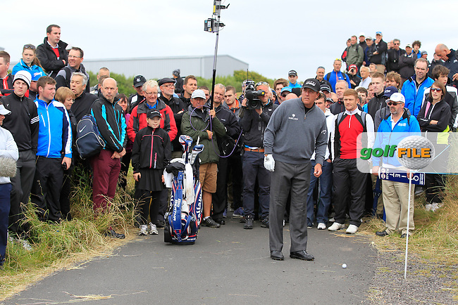 Phil Mickelson (USA) during the 1st round of the Aberdeen Asset Managament Scottish Open 2014, Royal Aberdeen Golf Club, Aberdeen, Scotland.<br /> Picture: Fran Caffrey www.golffile.ie