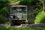 Land Rover Series 1 80inch competing at the ALRC National 2008 RTV Trial. The Association of Land Rover Clubs (ALRC) National Rallye is the biggest annual motor sport oriented Land Rover event and was hosted 2008 by the Midland Rover Owners Club at Eastnor Castle in Herefordshire, UK, 22 - 27 May 2008. --- No releases available. Automotive trademarks are the property of the trademark holder, authorization may be needed for some uses.