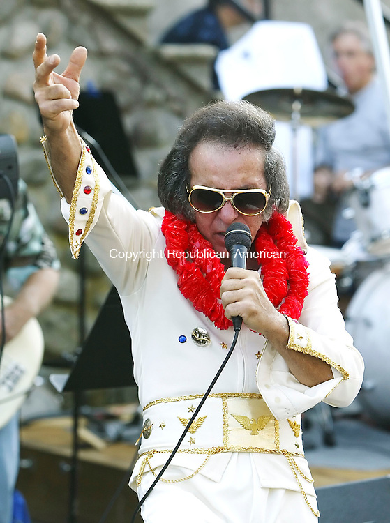 PROSPECT, CT, 17 SEPTEMBER 2006, 091706BZ02- Elvis impersonator Tom Stanco, of Plainville, performs at the 21st annual Prospect Sock Hop and Car Show Sunday afternoon.<br />  Jamison C. Bazinet Republican-American