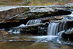 Horseshoe Falls on Cedar Shoals Creek in Reeseville, South Carolina.