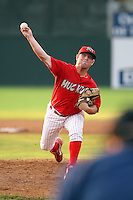 August 3rd 2008:  Pitcher Scott Gorgen of the Batavia Muckdogs, Class-A affiliate of the St. Louis Cardinals, during a game at Dwyer Stadium in Batavia, NY.  Photo by:  Mike Janes/Four Seam Images