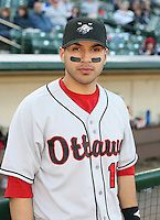 2007:  Jason Jaramillo of the Ottawa Lynx poses for a mug shot prior to a game vs. the Rochester Red Wings in International League baseball action.  Photo By Mike Janes/Four Seam Images