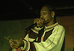 EXCLUSIVE-DO NOT PUBLISH WITH PHOTO CREDIT-NO NAME.Rapper and MTV Fizzle Star Snoop Dog smokes a blunt on stage during his performance at Hal & Mal's in Jackson, MS. Monday night Jan.5 2004. After lighting up Snoop through the blunt to the crowd and told them to take a hit and pass it to someone else.(photo/Suzi Altman