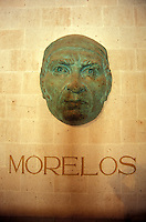 Bronze sculpture of Jose Maria Morelos in the Alhondiga de Granaditas in the city of Guanajuato, Mexico. This former granary and fortress is now a history and art museum.