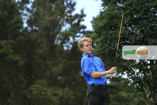 Hugh O'Hare (Fortwilliam) on the 15th tee during Round 3 of the 2016 Connacht U18 Boys Open, played at Galway Golf Club, Galway, Galway, Ireland. 07/07/2016. <br /> Picture: Thos Caffrey | Golffile<br /> <br /> All photos usage must carry mandatory copyright credit   (&copy; Golffile | Thos Caffrey)