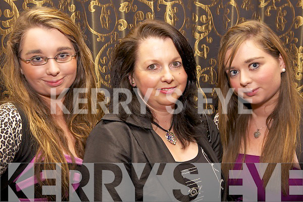 FAMILY AFFAIR: Twins Gemma and Grainne long with their mum Mary Buck from Newcastlewest enjoying the fashion show held last Friday night in the Devon Inn, Templeglantine, in aid of the Invalid Section of the Limerick Diocesan Pilgrimage to Lourdes